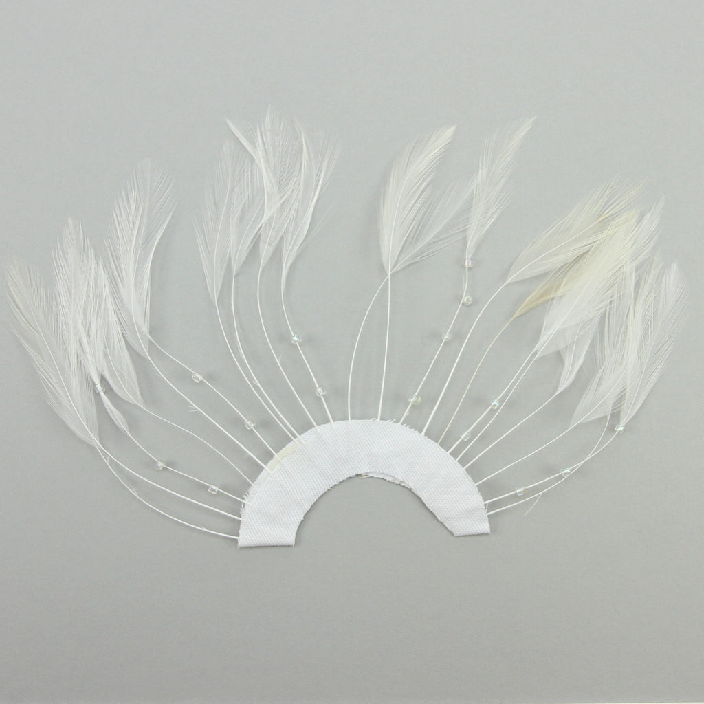 Feather Pinwheel - White