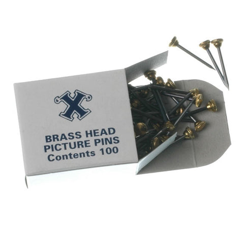 X Brass Head Pins 100s