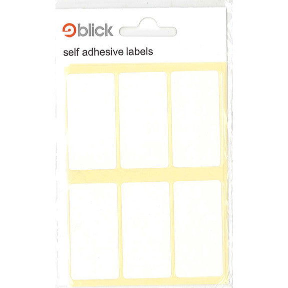 Rect - 25x50mm White - Labels - 42pk