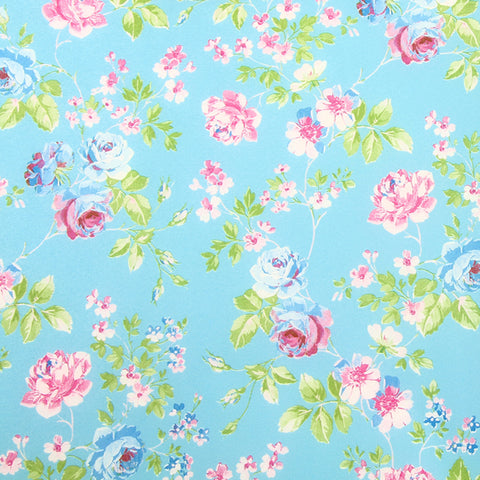 Decopatch Sheet ref. 566 Floral Turq/Pink/Green