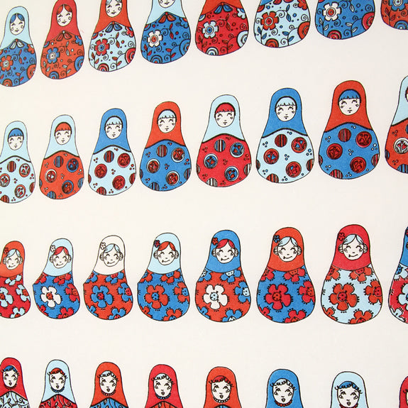 Decopatch Sheet ref. 568 Russian Dolls Red/White/Blue