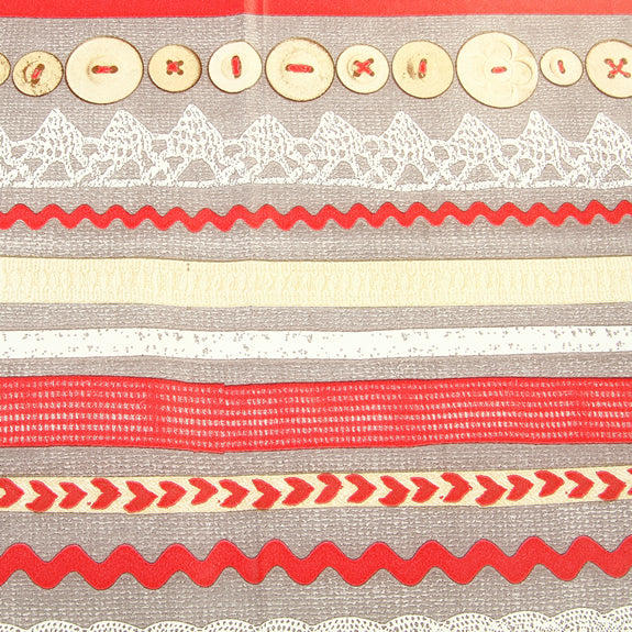 Decopatch Sheet ref. 575 Buttons/Lace/Ribbon