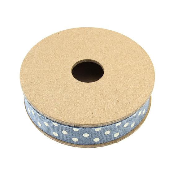 Ribbon Reel - Dotty Dark Blue with Cream Default Title