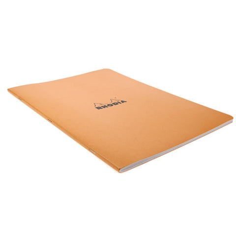 Rhodia Orange Side Stapled Notebook. 210X297 48S Lined 119168C