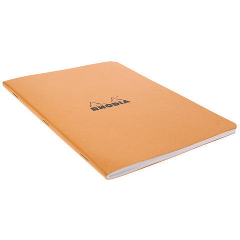 Rhodia Orange Side Stapled Notebook. 148X210 48S Lined 119188C