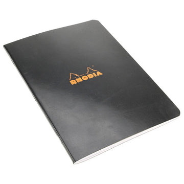 Rhodia Black Side Stapled Notebook. 148X210 48S Lined 119189C