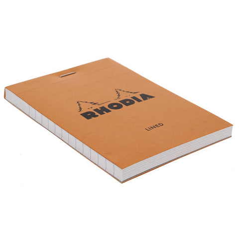 Rhodia Orange Head Stapled Pad 8.5X12Cm Lined 12600C