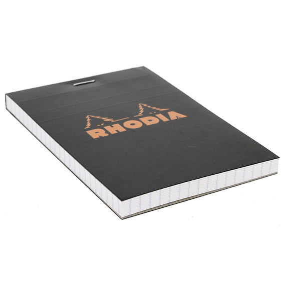 Rhodia Black Head Stapled Pad 8.5X12Cm Sq.5X5 122009C