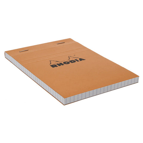 Rhodia Orange Head Stapled Pad 10.5X14.8Cm Sq.5X5 13200C