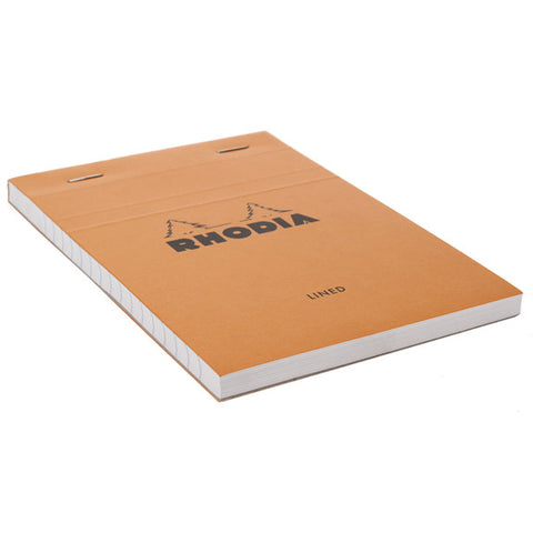 Rhodia Orange Head Stapled Pad 10.5X14.8Cm Lined 13600C