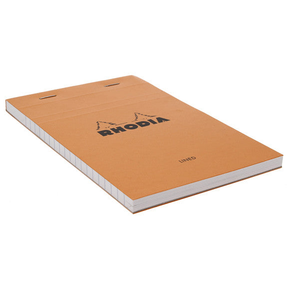 Rhodia Orange Head Stapled Pad 11X17Cm Lined 14600C