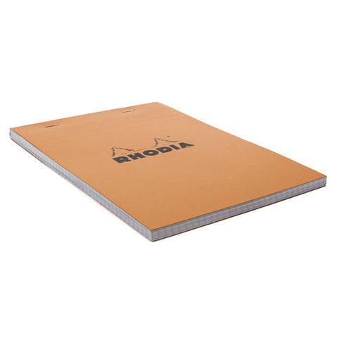 Rhodia Orange Head Stapled Pad 14.8X21Cm Sq.5X5 16200C