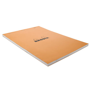 Rhodia Orange Head Stapled Pad 21X29.7Cm Sq.5X5 18200C