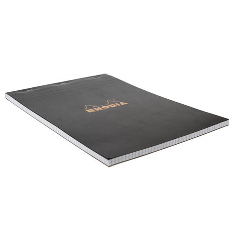Rhodia Black Head Stapled Pad 21X29.7Cm Sq.5X5 182009C
