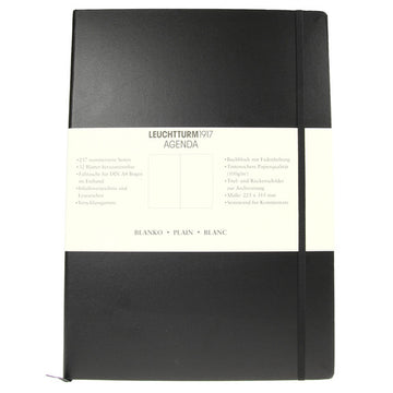 Leuchtturm 1917 Black Classic Master Notebook Plain