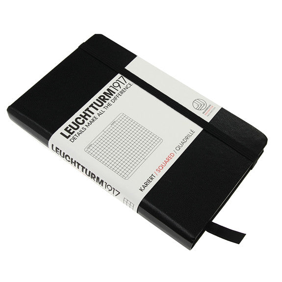 Leuchtturm 1917 Classic Black Hardcover Pocket Notebook Squared
