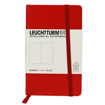 Leuchtturm 1917 Red Pocket Notebook Plain