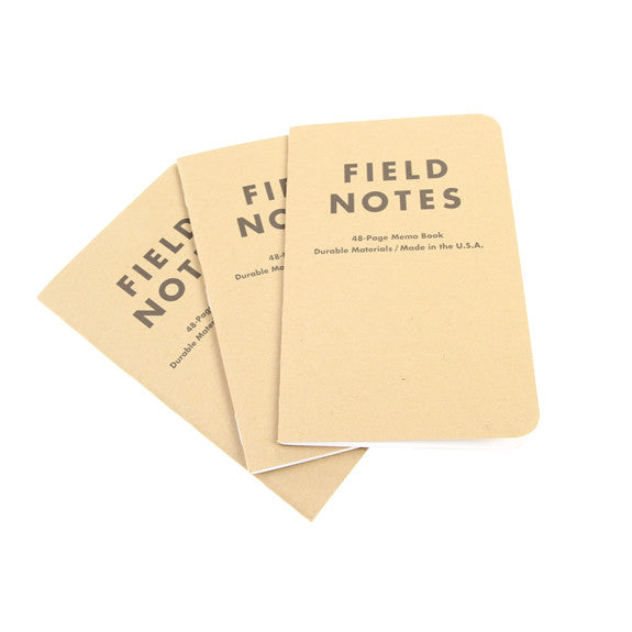 FIELD NOTES Pack of 3 Notebooks - Plain Paper (FN03)