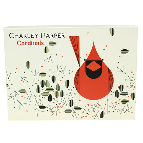 Charley Harper Big Notecards Box - Cardinals
