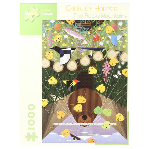Charley Harper Puzzle - The Rocky Mountain