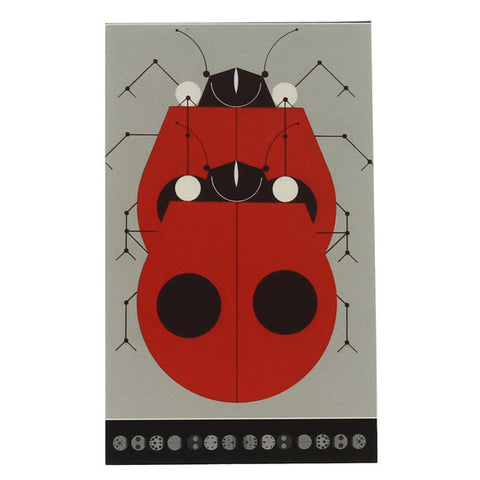 Charley Harper Small Notepad - Ladybugs Mating