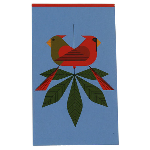 Charley Harper Small Notepad - Cardinals Consorting