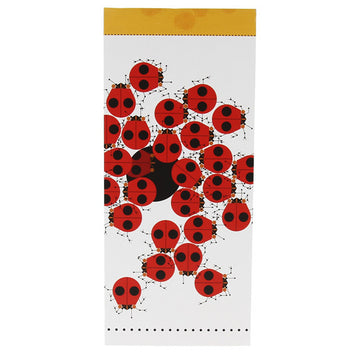 Charley Harper Long Notepad - Early to Rise Ladybugs