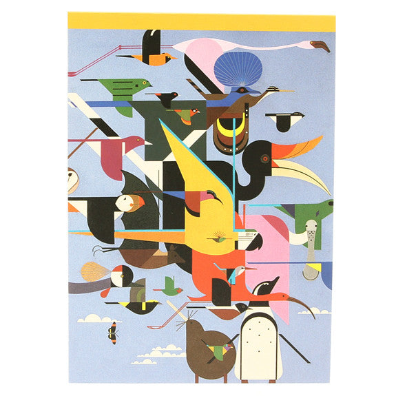 Charley Harper Medium Notepad - Wings of the World