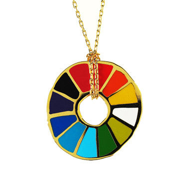 Yellow Owl Workshop Pendant - Colour Wheel