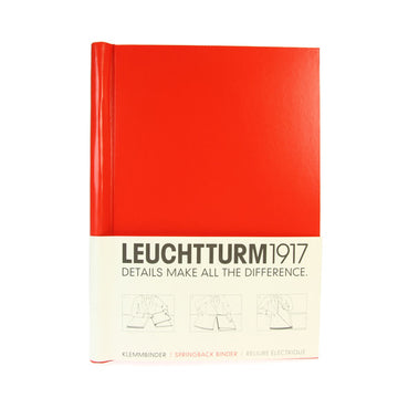 Leuchtturm 1917 Canvas Springback Binder Bright Red