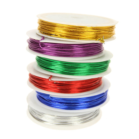 Craft Wire Metallic Colours - 6 Spools