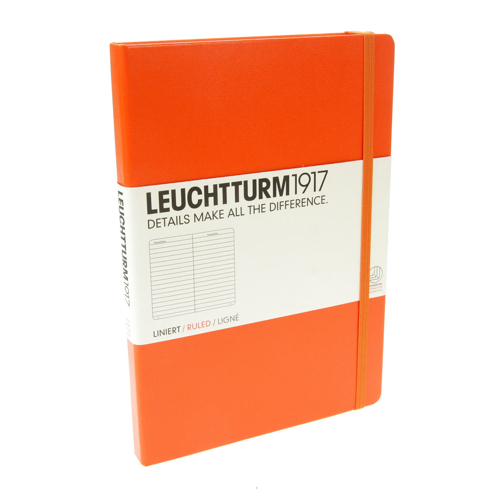 Leuchtturm 1917 Orange Medium Notebook Ruled