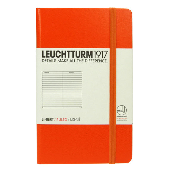 Leuchtturm 1917 Orange Pocket Notebook Ruled
