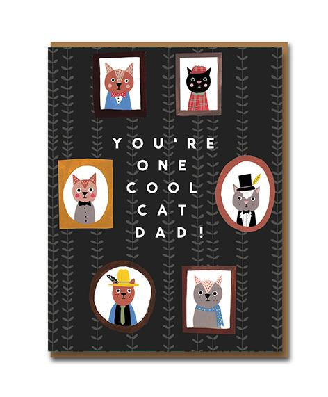 You're One Cool Cat Dad! card