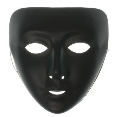 Plastic Face Mask Black