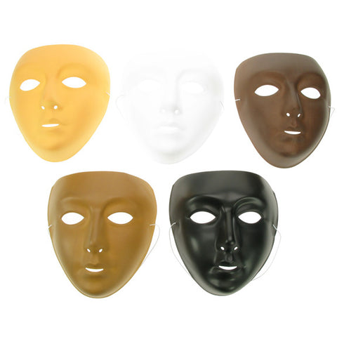 Plastic Face Mask Multicultural - 10 Pk