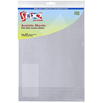 Clear Printable Acetate Sheet 5 Pk
