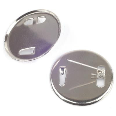 Inset Brooch Mounts 25mm N/P 12 Pack