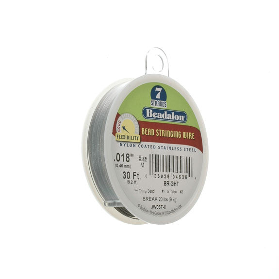 "Beadalon 7 Strand Wire .018"" Bright 30ft (9.2m)"