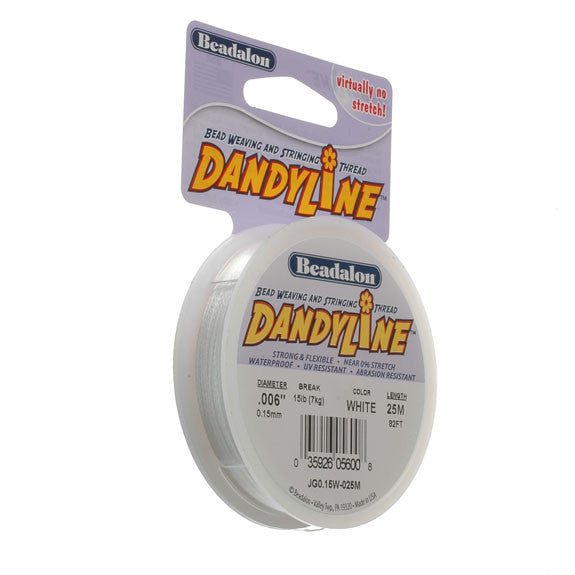Beadalon Dandyline 0.15mm  White 25M