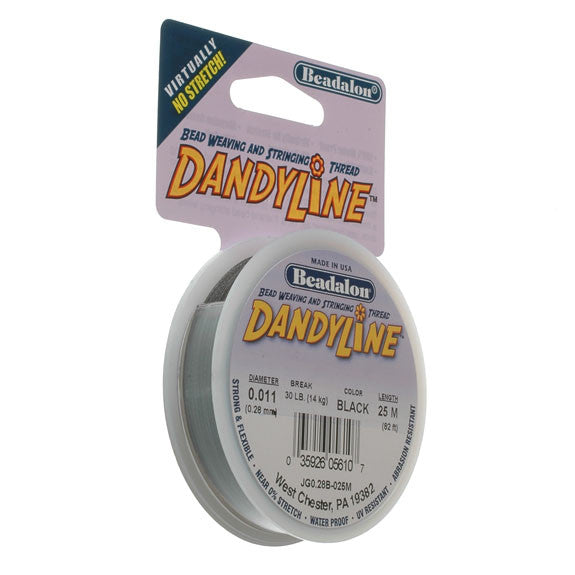 Beadalon Dandyline 0.28mm  Black 25M