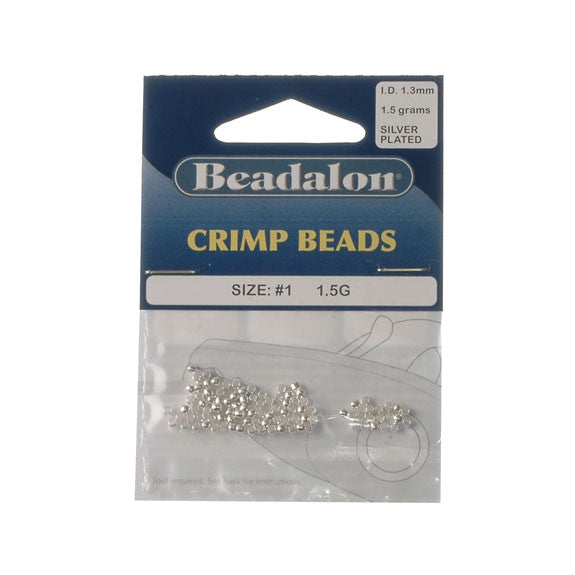 Beadalon Crimp Bead 2.0mm Silver Plate 1.5G