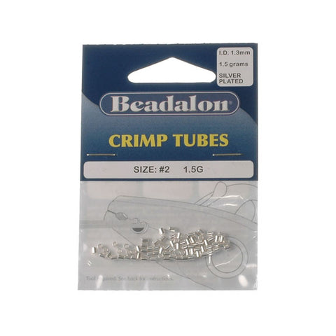 Beadalon Crimp Tube 1.8mm Silver Plate 1.5G