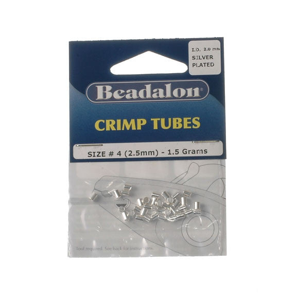 Beadalon Crimp Tube 2.5mm Silver Plate 1.5G