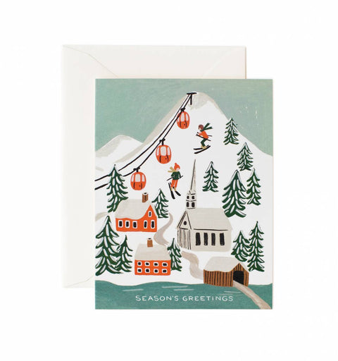 Holiday Snow Scene Greetings Card