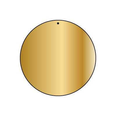 Copper Blank CB11 50 mm Round Pendant Pack of 5