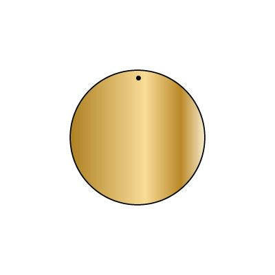 Copper Blank CB73 37 mm Round Pack of 5