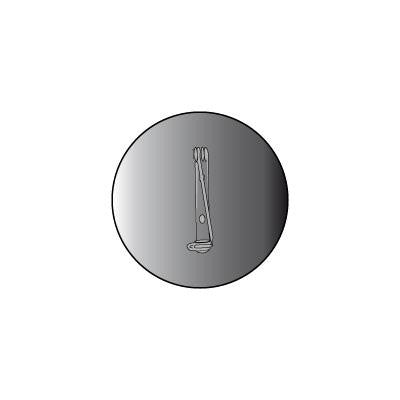 P19 Brooch 63mm Round. Pack of 10.