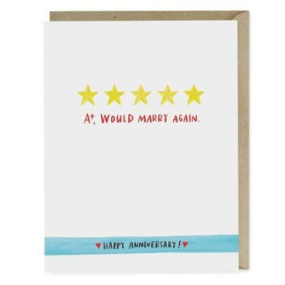 Emily McDowell & Friends Five Stars Anniversary Card