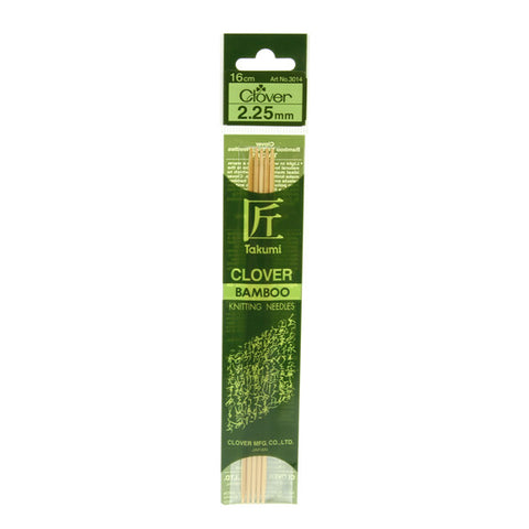 Clover Takumi Bamboo Knitting Needles - 2.25mm - 5pk